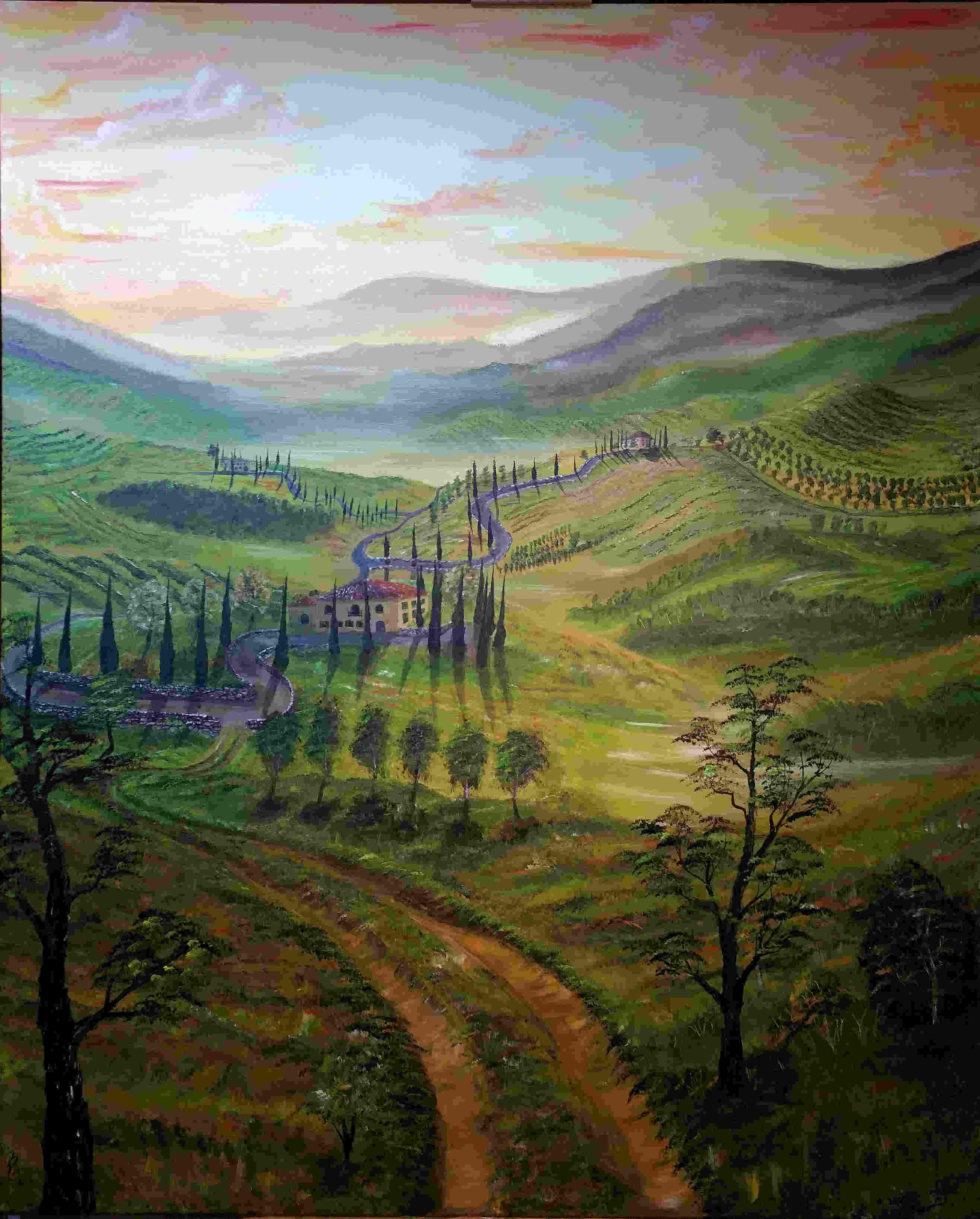Gemälde Toskana-Landschaft