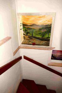 Beispiel Toskanabild am Treppenaufgang