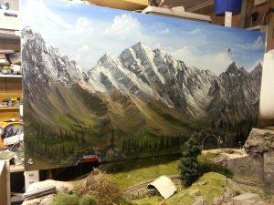 Hintergrund für die Modellbahn
